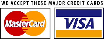 Visa and Mastercard Credit Cards Accepted